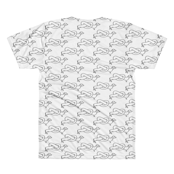 70155fa9a Weiner Dog Pattern - Men's White - DOGMA Portraits